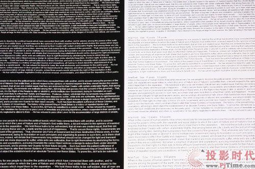 黑底白字、白底黑字测试-极致奢华 爱普生TW5500家用投影机详测