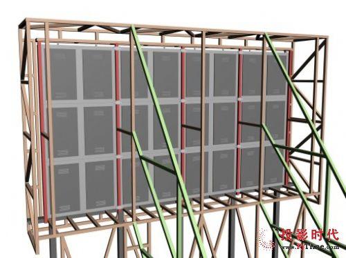 户外led显示屏钢结构3d3d软件展示