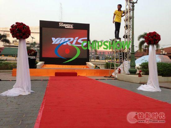 齐普光电P6.67 LED租赁屏,助阵老挝丰田派对