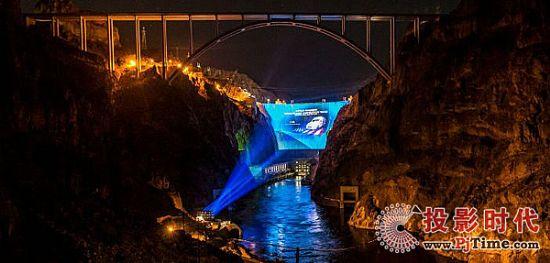 巴可打造胡佛水坝巨型投影映射