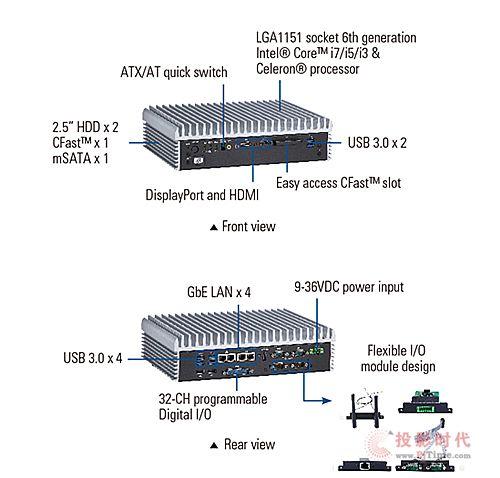 艾讯发表搭载第6代中央处理器的嵌入式计算机系统
