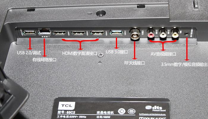 TCL 65C2剧院电视:接口设计