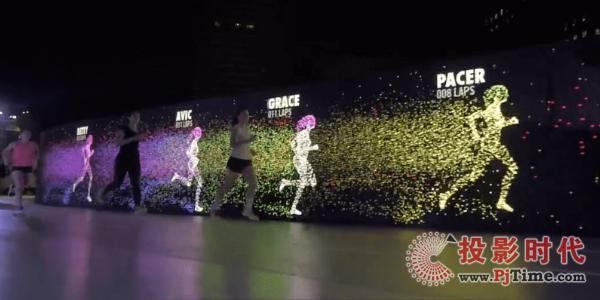 耐克在菲律宾打造的全球首条交互式LED跑道