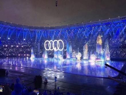 天津奥体的海市蜃楼:3D全息投影的盛宴