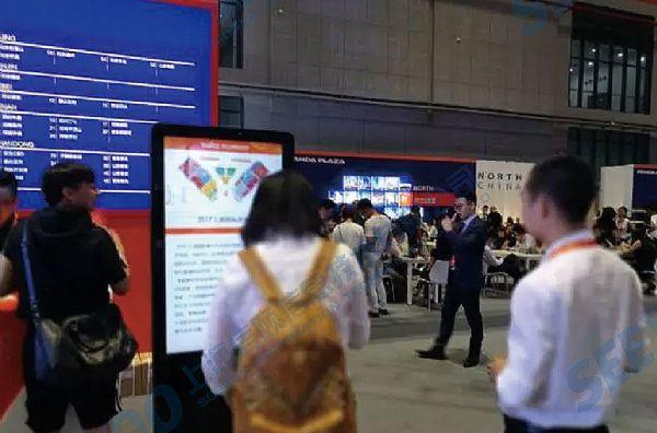【展中报道】信颐亮相上海国际商业年会,智能标牌助力新零售