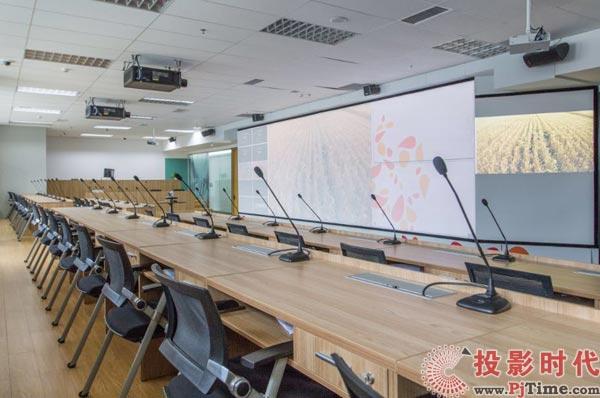 """索尼激光工程投影机案例探访:""""幕前""""""""幕后""""巧妙搭配,升级企业会议室"""