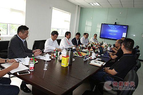 NEC 总部领导一行莅临同辉信息参观指导