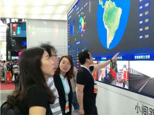 洲明公安可视化平台吸引大量客户围观和体验