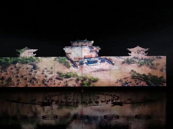 一城一史 赢康助阵韩城《大河之魂》大型灯光水景音乐秀