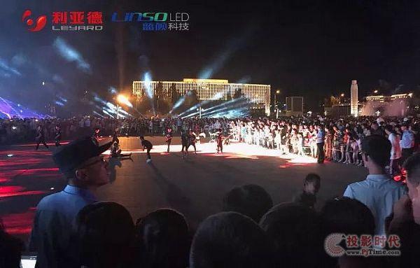 """蓝硕科技打造""""亮丽东胜""""青铜文化广场主题灯光秀"""
