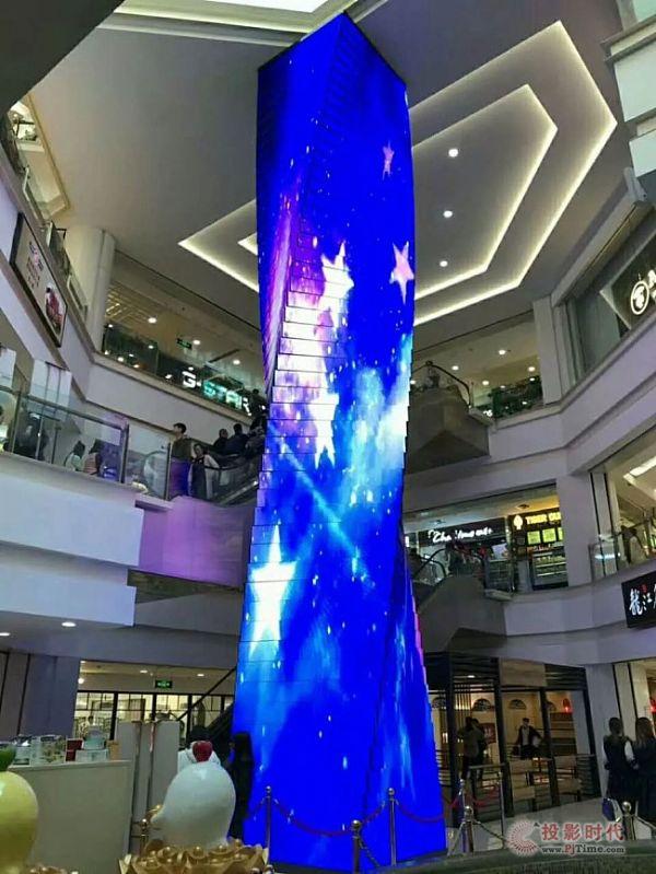 艾比森30米高LED 创螺旋式设计之经典