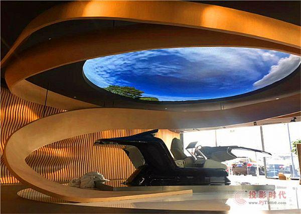 易事达户内轻翼LED走进北京燕沙沃尔沃4S店!