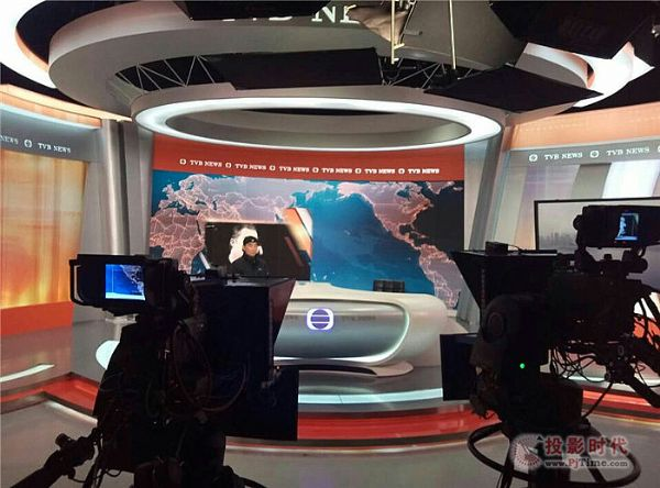 易事达小间距LED走进TVB电视台新闻直播间