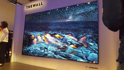 CES 2018:三星推首款146英寸micro-LED电视