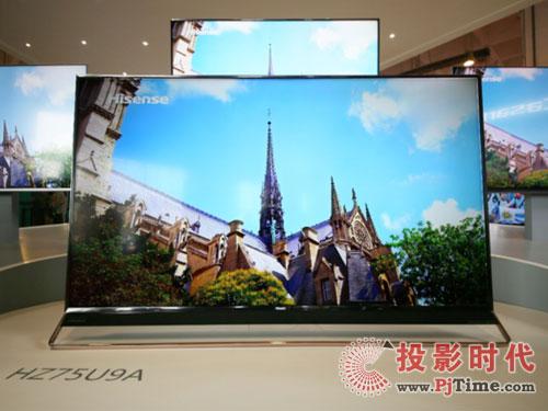 海信150寸激光电视及多款ULED电视集体亮相CES2018