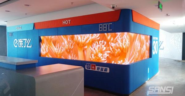 饿了么恒温箱小间距LED显示屏