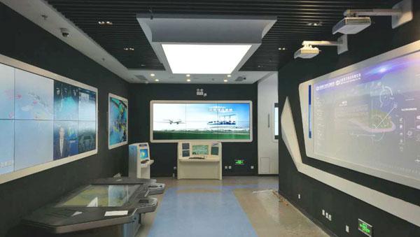 中国某系统研究院企业展厅↑