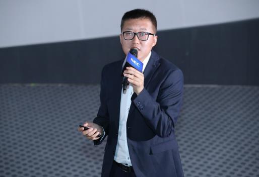 NEC(中国)有限公司显示产品解决方案事业部总经理张卫国进行市场分析