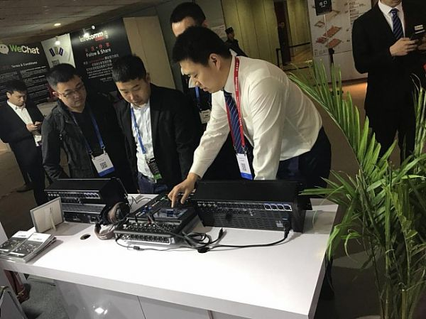 音王首次参加北京Infocomm 20路紧凑型数字调音台吸人气