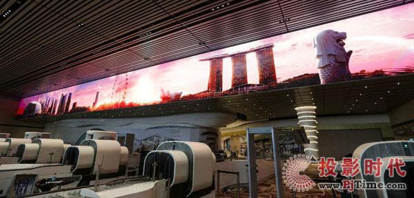 樟宜机场4号航站楼LED显示屏案例