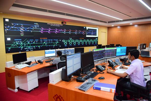 台达为印度Lucknow地铁公司营运控制中心提供激光DLP大屏幕显示系统,用于整条线路的车辆运行调度指挥以及车站监控