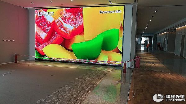 联建光电小间距黑科技屏空降腾讯滨海大厦