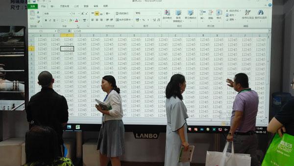 LANBO微距背投重新定义大尺寸教室屏幕护眼标准
