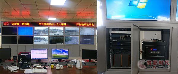 讯维混合矩阵应用于漯河铁路指挥调度中心
