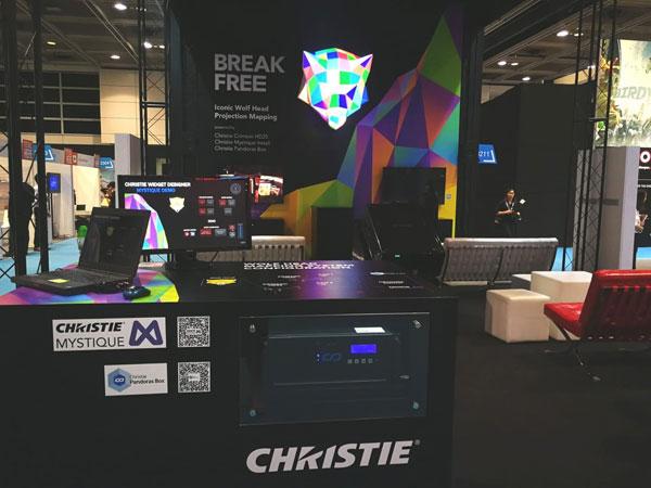 经过重大更新的科视Christie Mystique Install软件解决方案在展位上亮相