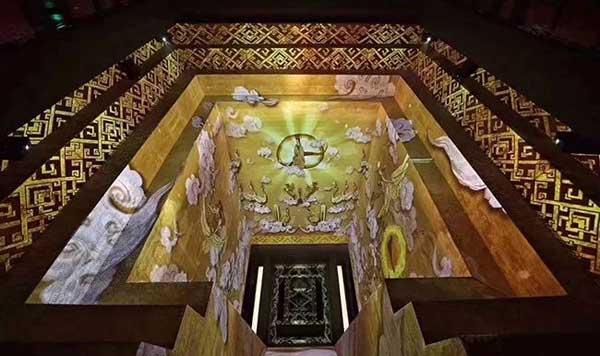 ▷湖南省博物馆墓坑投影