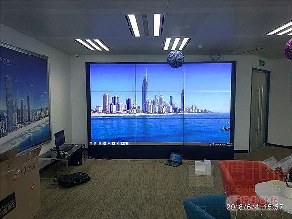 武汉平安金融中心55寸液晶拼接屏