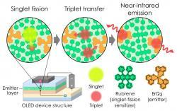 九州大学研究员利用单线态裂变实现IQE>100%的近红外OLED发光体