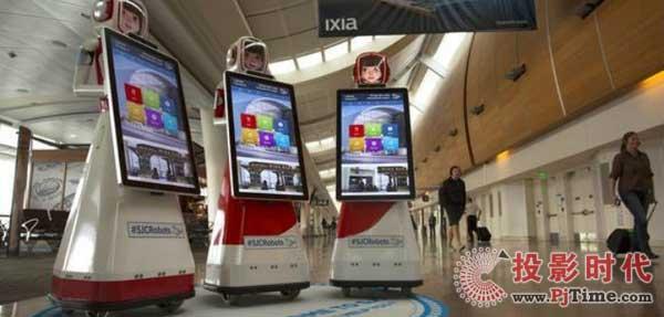 """圣何塞国际机场雇佣机器人""""服务员"""""""