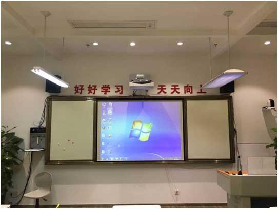 艾博德股份超短焦激光投影机+交互式电子白板助力舒城二中