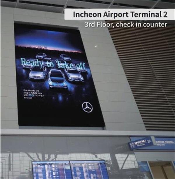 柔显视界,震撼体验 280张LG OLED商显大屏绽放仁川机场