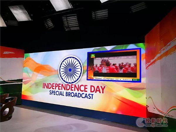 艾比森LED为印度独立日庆典直播保驾护航