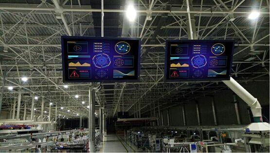 NEC V652工业大屏加持汽车市场促进汽车工厂的工业化改造之路