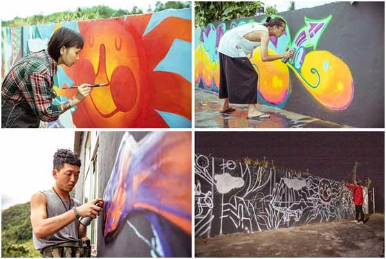 11米外墙的创意涂鸦者们