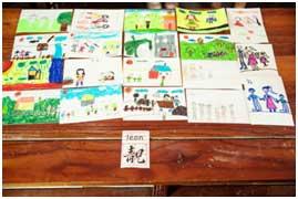 小朋友们的美术作品展示