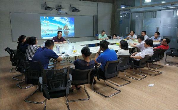 长沙市高新区领导莅临KUPA考察激光显示项目