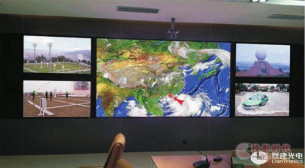 """台风来临,联建LED显控系统实力护""""粤"""""""