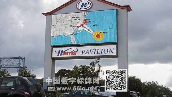 户外数字标牌实时播报飓风动态,多媒体信息发布系统,数字标牌,数字告示,digital signage