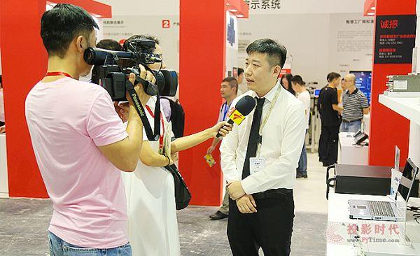 研祥市场中心总经理迟巍接受采访