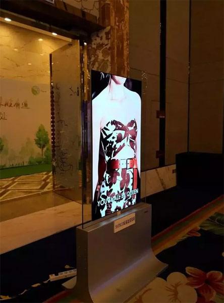 55寸OLED玻璃双面显示屏