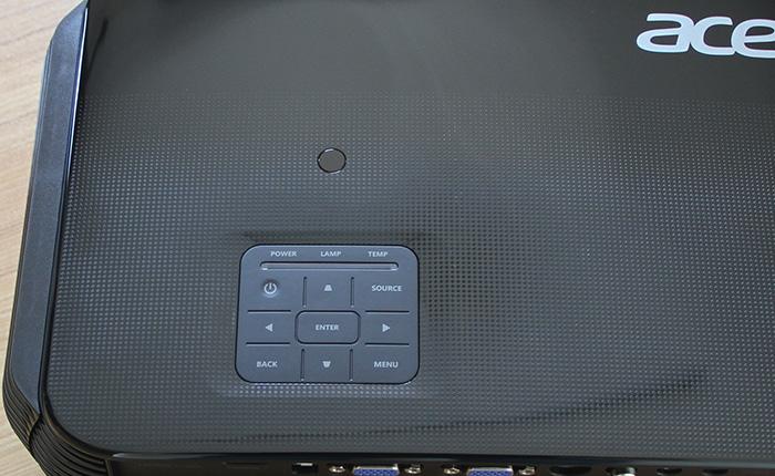 宏碁AX600高亮商务投影机机身细节及操控设置