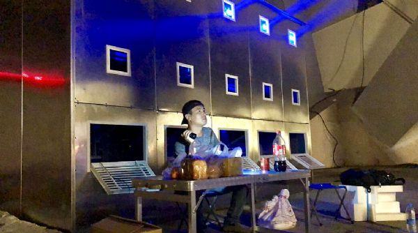 松下工程投影机照亮上海卢浦大桥
