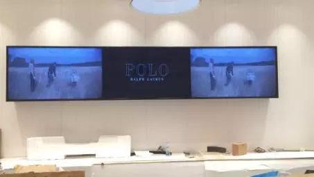 POLO店内LG 55VH7B拼接屏展示