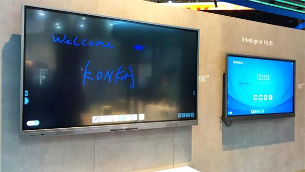 美国CES展现场,如何借助康佳智能会议平板抓住更多眼球?