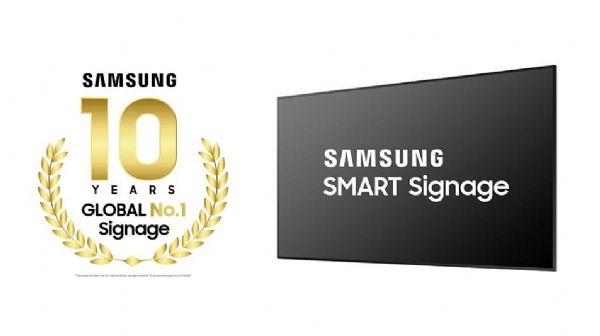 连续十年!三星数字标牌荣居全球行业第一