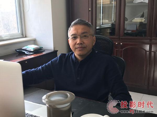 环宇蓝博金总接受投影时代网独家专访